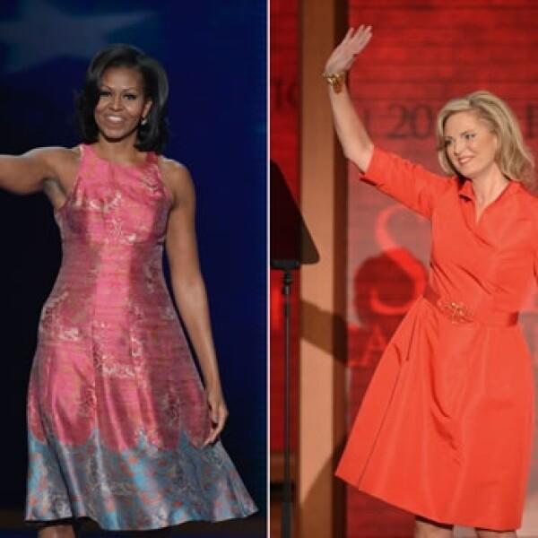 Michelle Obama Ann Romney esposas