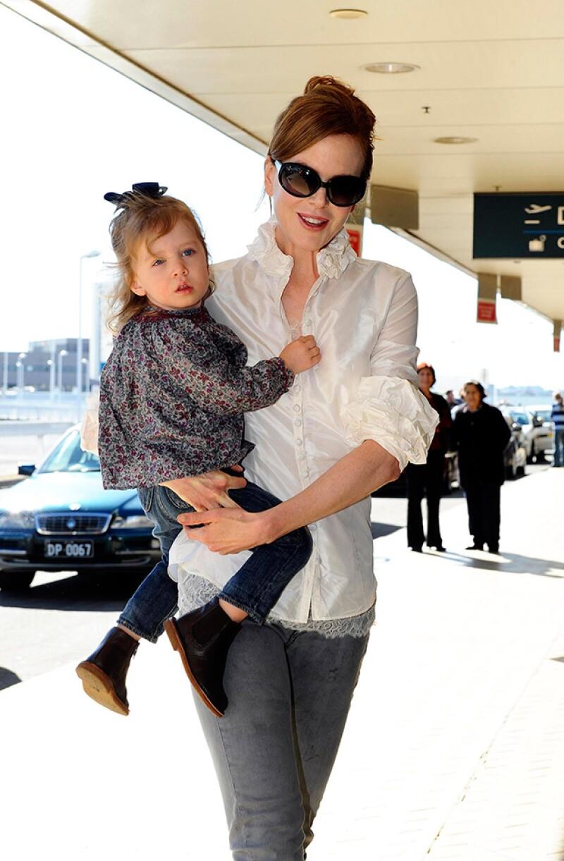 Nicole Kidman junto a su hija Sunday Rose.