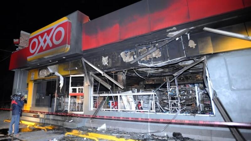 Ataques contra tiendas Oxxo