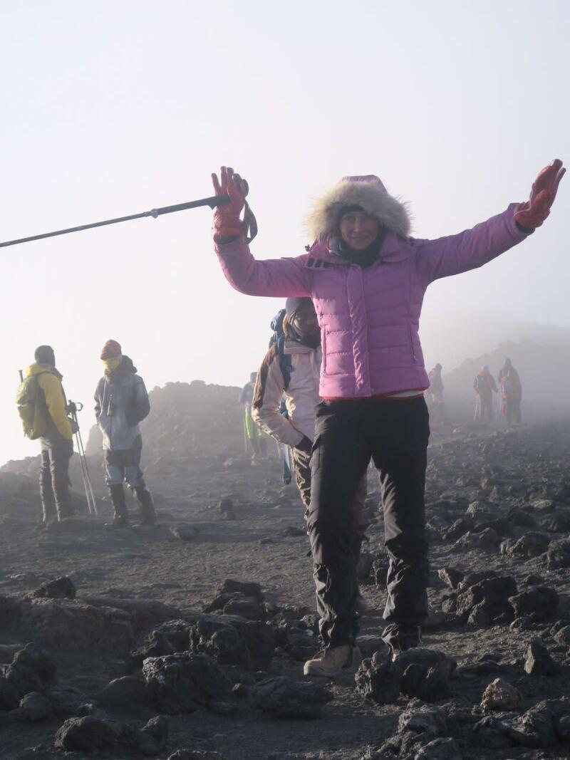 Alejandra Alemán orgullosa de su logro y feliz por su doble propósito.