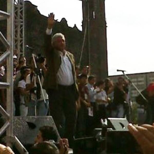 López Obrador llega a Tlatelolco