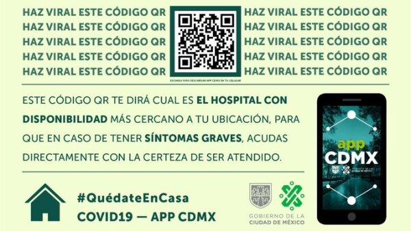 Código QR en la CDMX