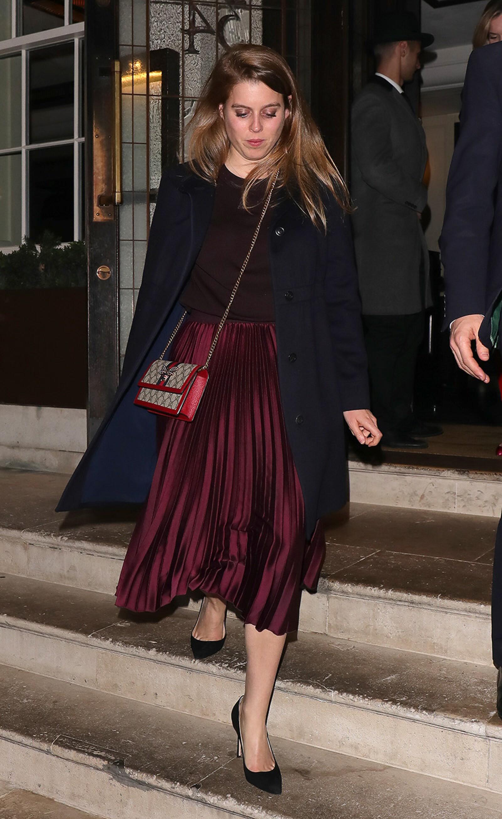 Celebrities leaving 34 restaurant, London, UK - 15 Apr 2019