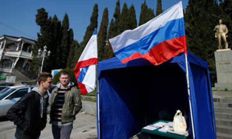 La economía de ucrania podría ser afectada por la posible anexión de Crimea a Rusia. (Foto: Reuters)