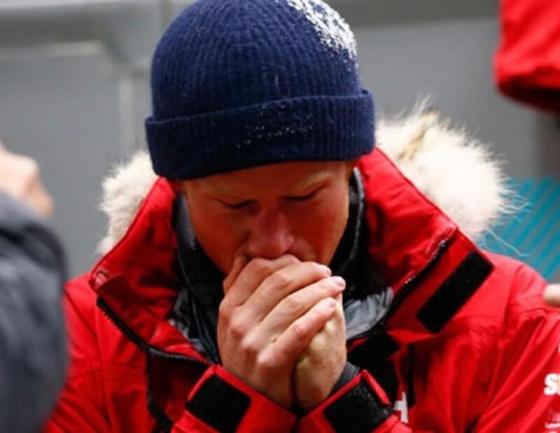 El tío del príncipe George entrenó a 55 grados bajo cero.