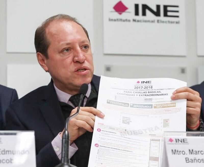Marco Antonio Baños Martínez dijo que este lunes los aspirantes a la Presidencia de México y a gobernador hicieron llegar al Instituto Nacional Electoral (INE) esta petición.