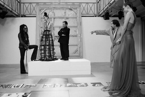 On the set of Le Scaphandre et le Papillon