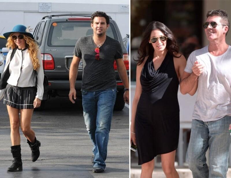 La mexicana y su novio iban caminando por el restaurante The Ivy cuando se encontraron, sin querer, al juez y jefe de la Chica Dorada junto a su pareja.