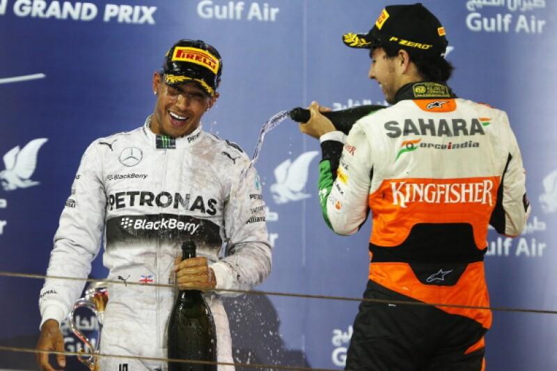podio checo perez Bahréin 2014
