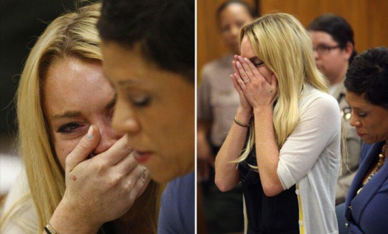 La actriz fue sentenciada a 90 días de prisión el 7 de julio de 2010.