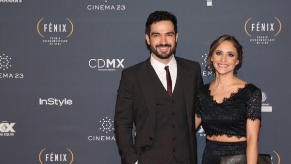 Poncho Herrera y su novia Diana Vázquez.