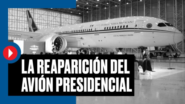 #Clip | La reaparición del avión presidencial