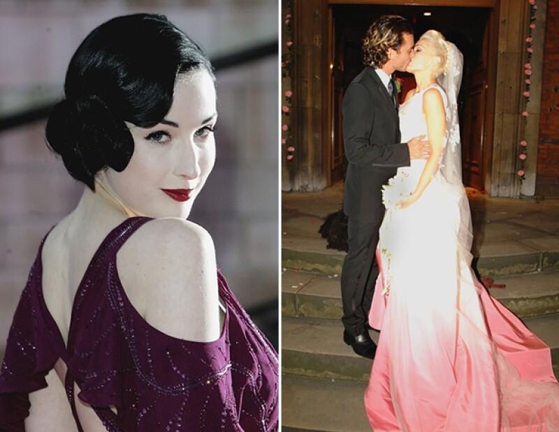 Elie Saab y Vera Wang mostraron vestidos de novia en colores inesperados, pero la tendencia ha traspasado las pasarelas hasta el altar con celebridades como Kaley Cuoco y Anne Hathaway.