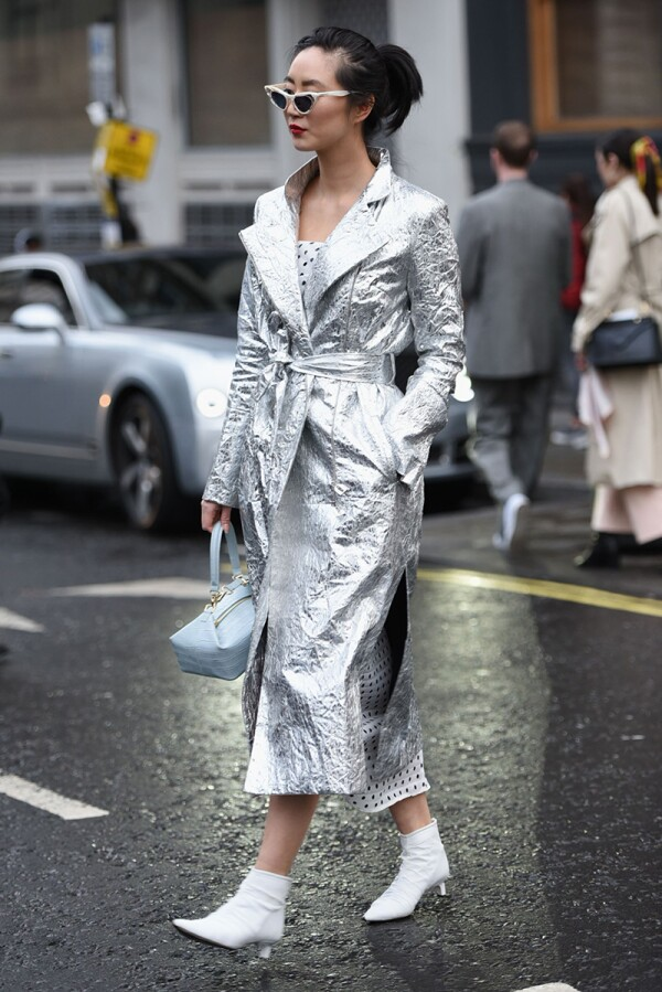 Street style, Fall Winter 2019, London Fashion Week, UK - 18 Feb 2019