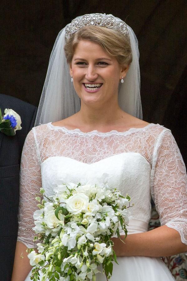 Wedding of Celia McCorquodale and George Woodhouse, Stoke Rochford, UK - 16 Jun 2018