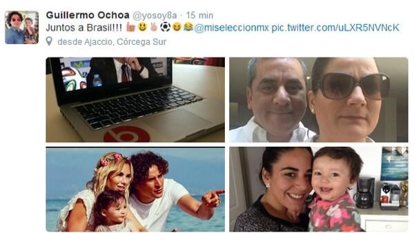 Su novia y su hija, de un año de edad, son las seguidoras número uno del guardameta que el día de hoy enfrenta a Brasil.