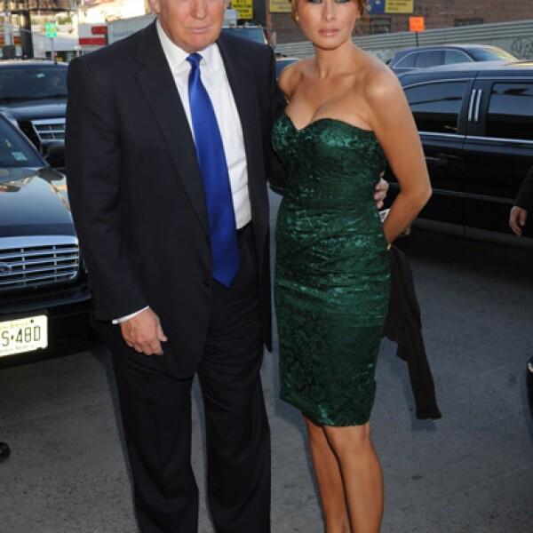 Melania y su esposo, el magnate Donald Trump.