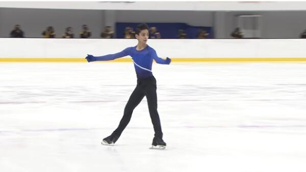 Durante el Grand Prix de patinaje artístico en la ciudad de Yokahoma, el tapatío Donovan Carrillo de 16 años encantó a los asistentes con su presentación al ritmo del Divo de Juárez.