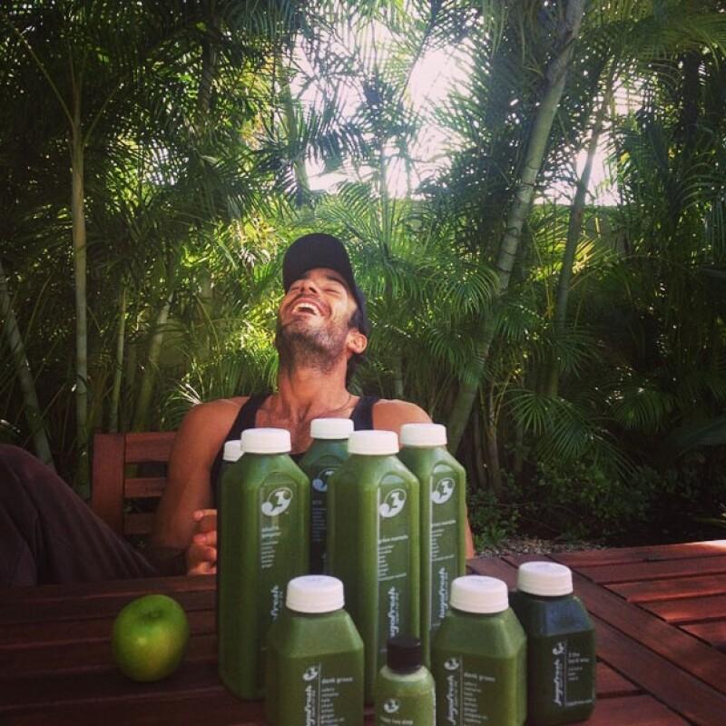 El actor también publicó en su Instagram parte del comercial que hicieron, muy `ad hoc´ a su estilo de vida.
