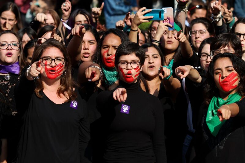 mujeres paro nacional