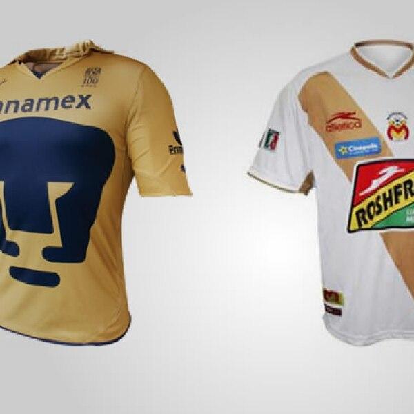 La tercera opción de uniforme de los equipos tiene un costo menor: la de Pumas vale 799 pesos y la de Morelia 189 pesos.