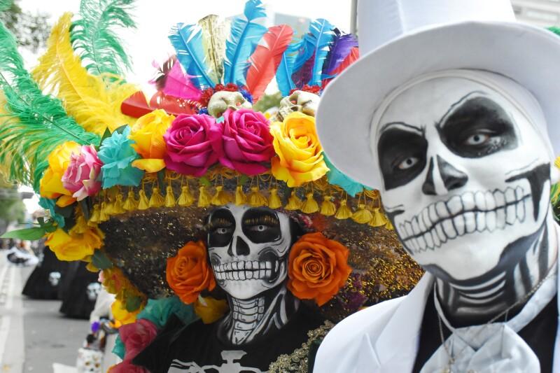 Annual Dia De Muertos Parade In Mexico