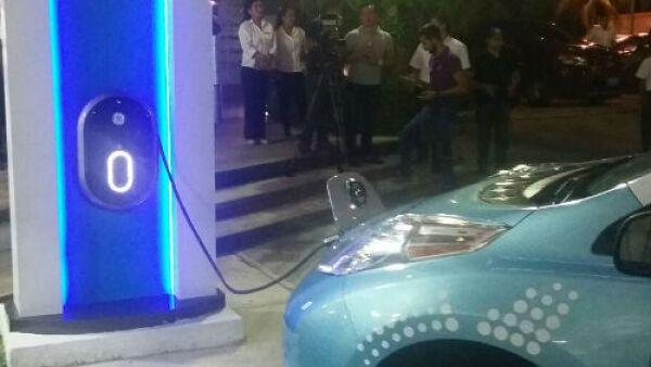 electrolinera de Nissan