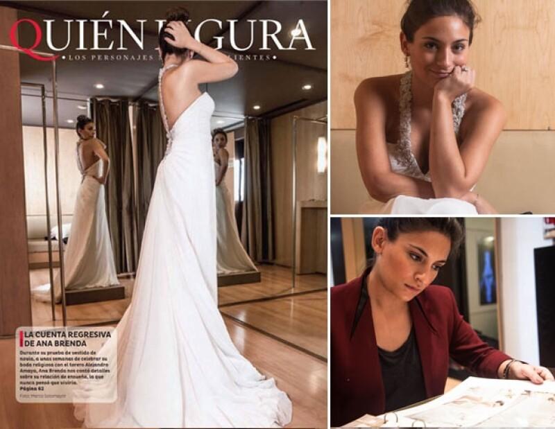 Acompañamos a la actriz a probarse varios modelos para el gran día de su boda con el torero Alejandro Amaya.