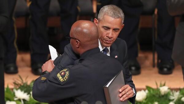 Obama felicitó la labor de la policía durante las protestas.