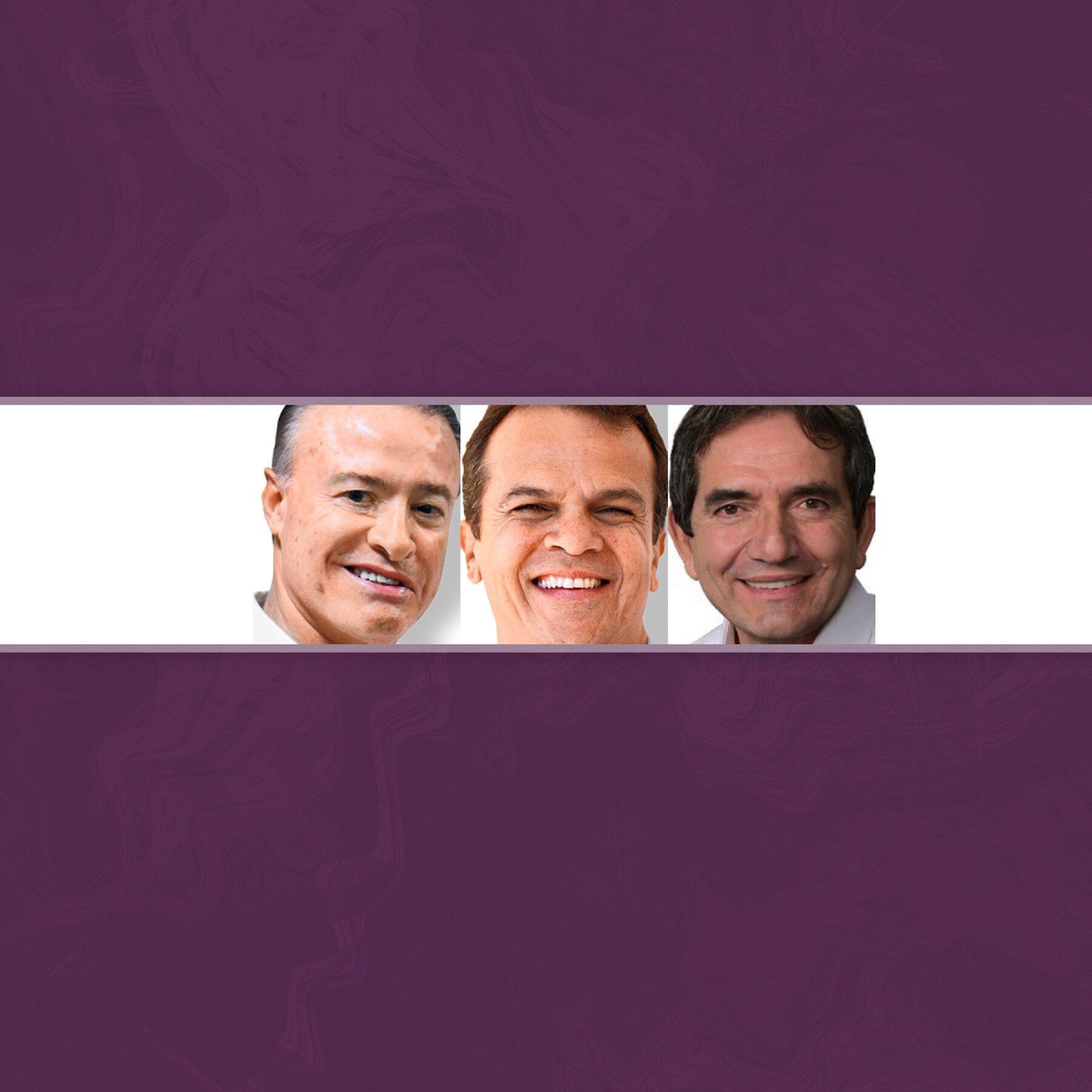 Quirino Ordaz, Martín Heredia y Melesio Cuén.