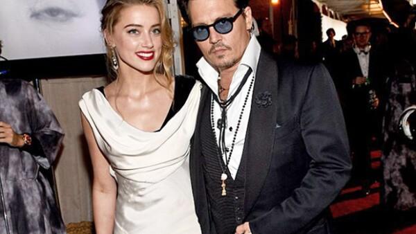 Johnny Depp y Amber Heard son marido y mujer.