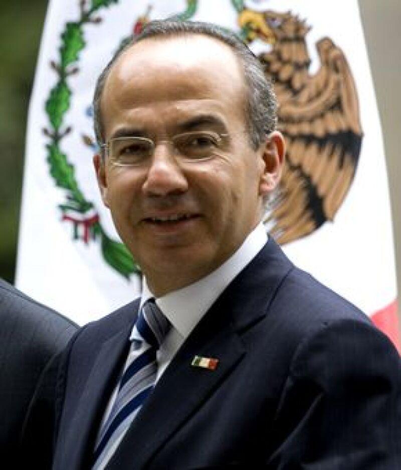 El Presidente Calderón ofreció festejo VIP en Palacio Nacional después de ceremonia oficial.