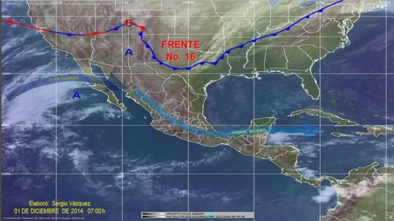 frente frío 16 México