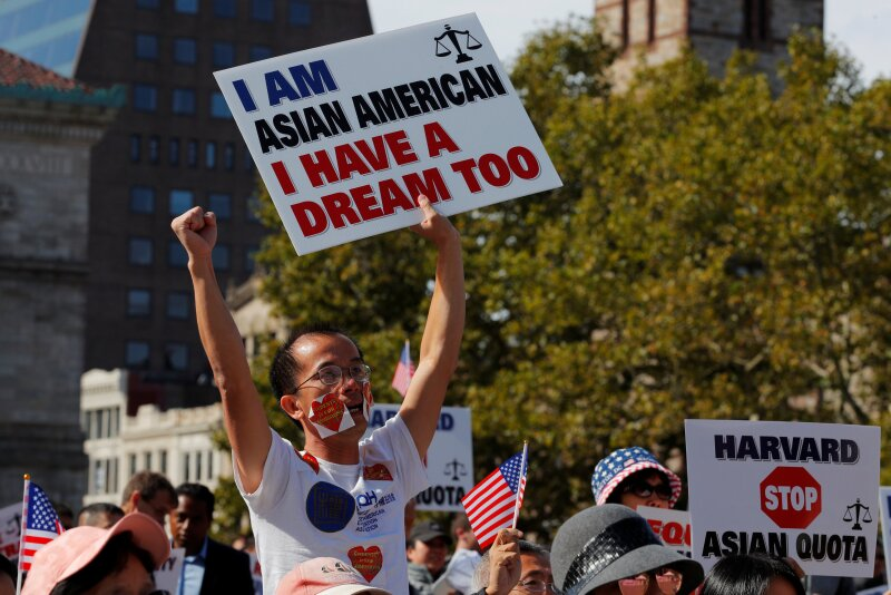 "Supporters attend the ""Rally for the American Dream - Equal Education Rights for All"" in Boston"