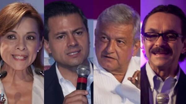 cuatro candidatos a la presidencia