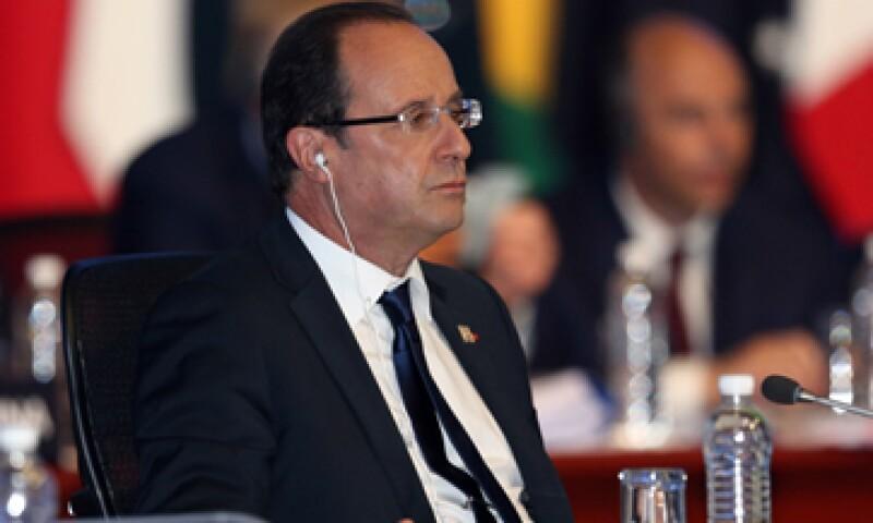 Europa debe de actuar de manera rápida, justa y correcta, dijo el mandatario francés. (Foto: AP)