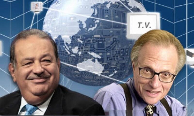 Carlos Slim iniciará este proyecto junto a Larry King, experimentado ex conductor de la cadena CNN. (Foto: Especial)