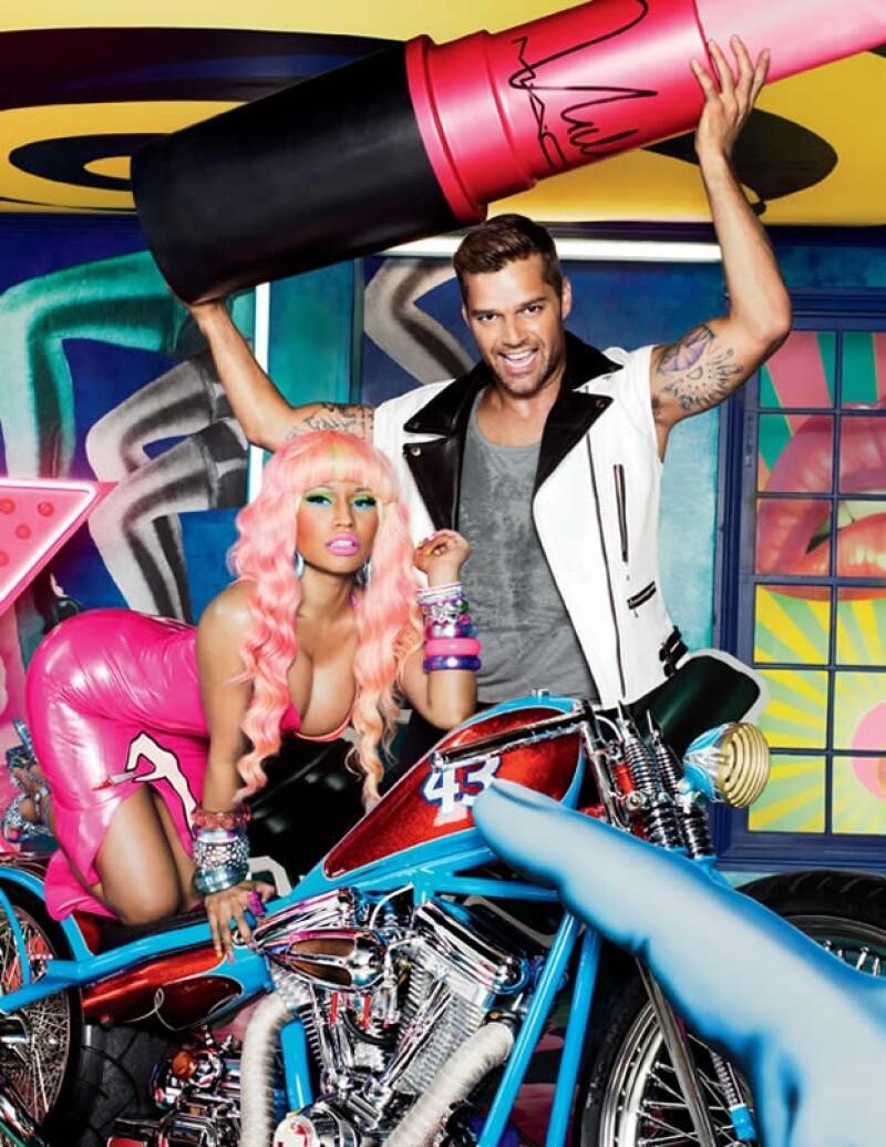 El cantante puertorriqueño posó junto a Nicki Minaj para David LaChapelle pues ambos son los voceros de la campaña Viva Glam 2012.