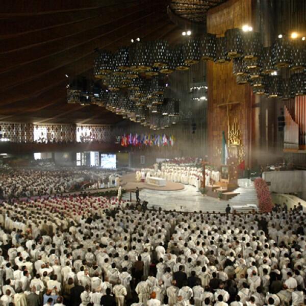 El pontífice regresó a México en 1990, la segunda de sus cinco visitas a territorio mexicano.