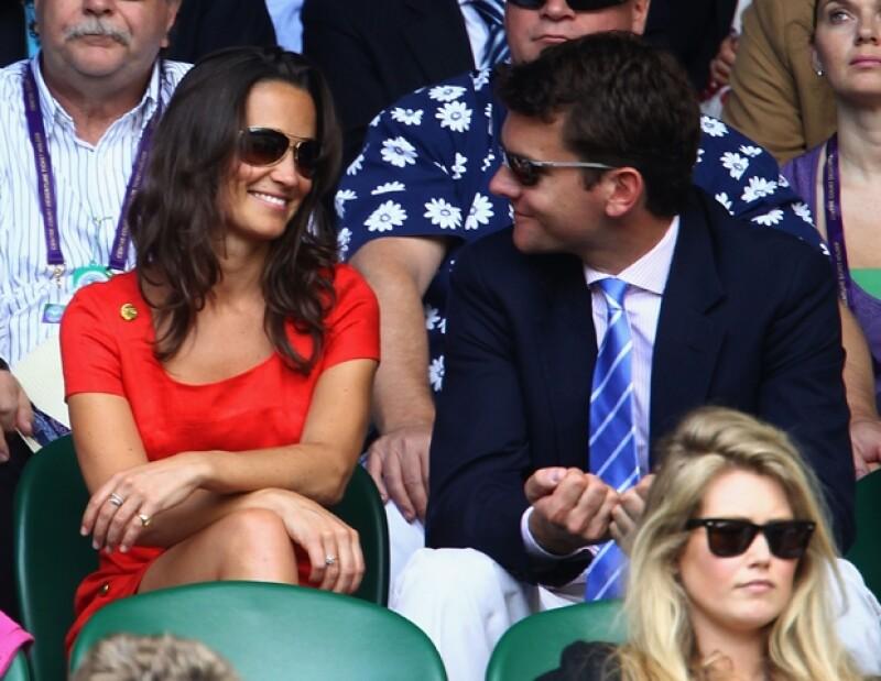 La pareja asistió a Wimbledon.