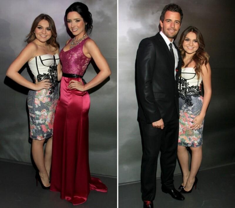 La joven actriz parecía contenta de compartir los reflectores con su papá y parte del elenco como Ariadne Díaz y Mane de la Parra.