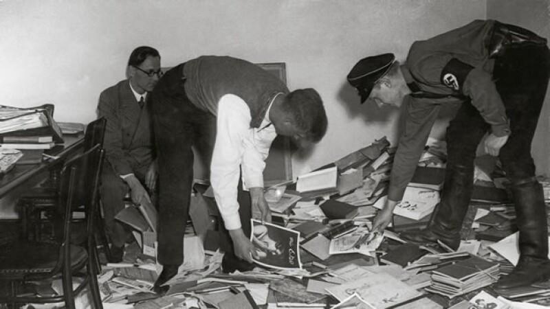 Quema de libros en la Alemania nazi