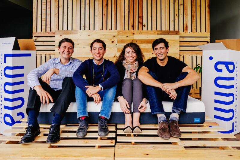 Los fundadores de Luuna.mx (de izq. a der.) Guillermo Villegas, William Kasstam, Lauréne Marie y Carlos Daniel Salinas.