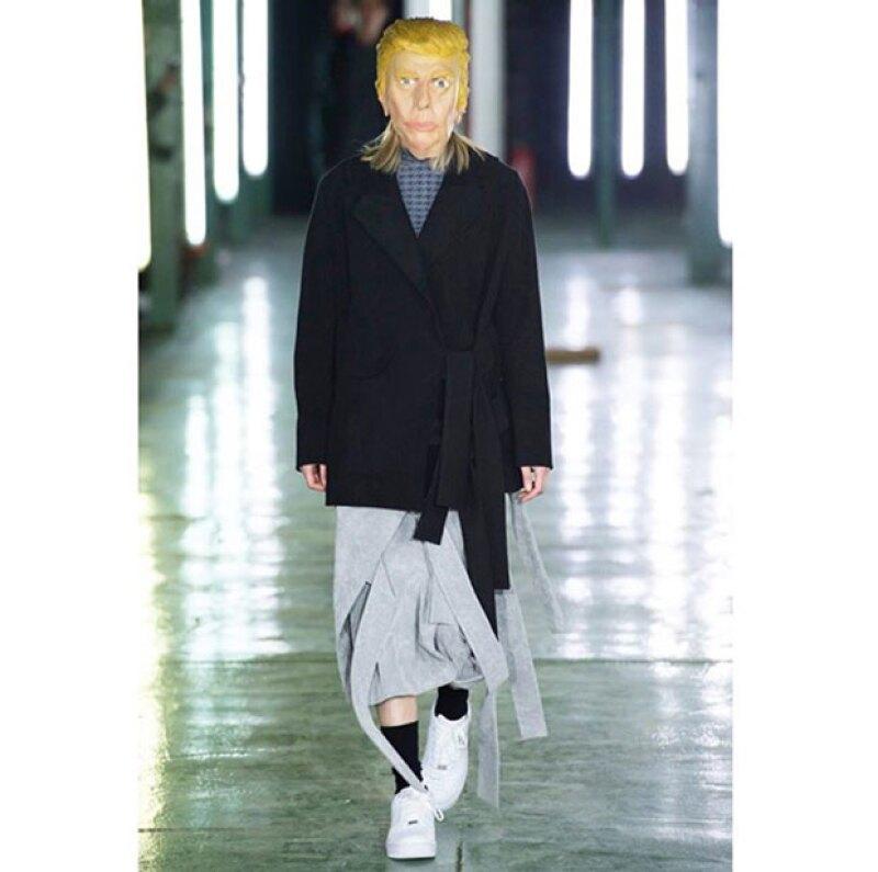 Otra personaje en el runway fue Donald Trump.