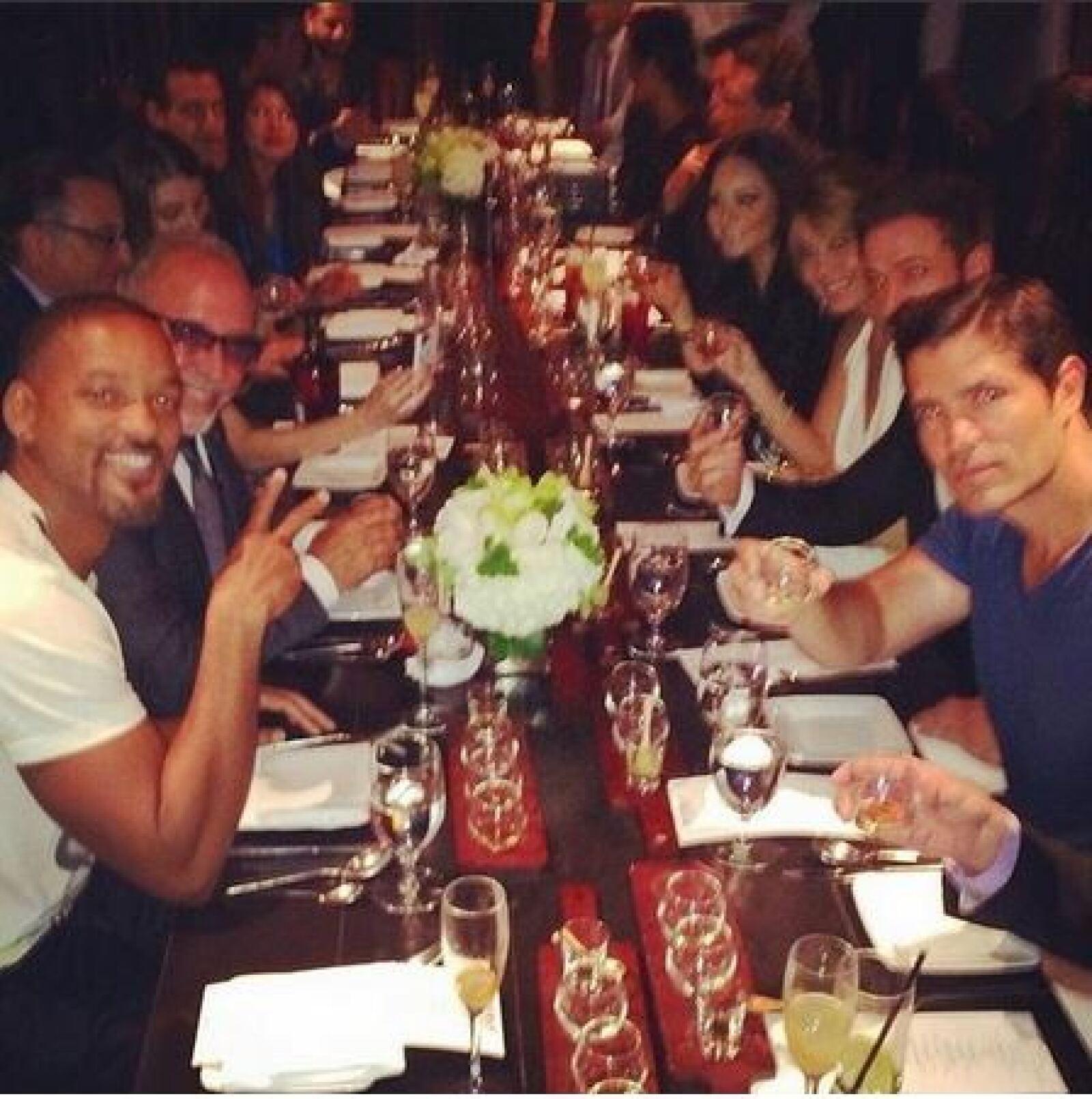 En la cena estuvieron presentes Will Smith, Kate del Castillo, Eva Longoria, Andy García, Diego Boneta, William Levy y Myrka Dellanos y más.