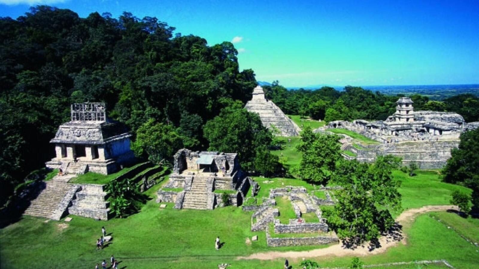 Pirámides selva, Palenque, México