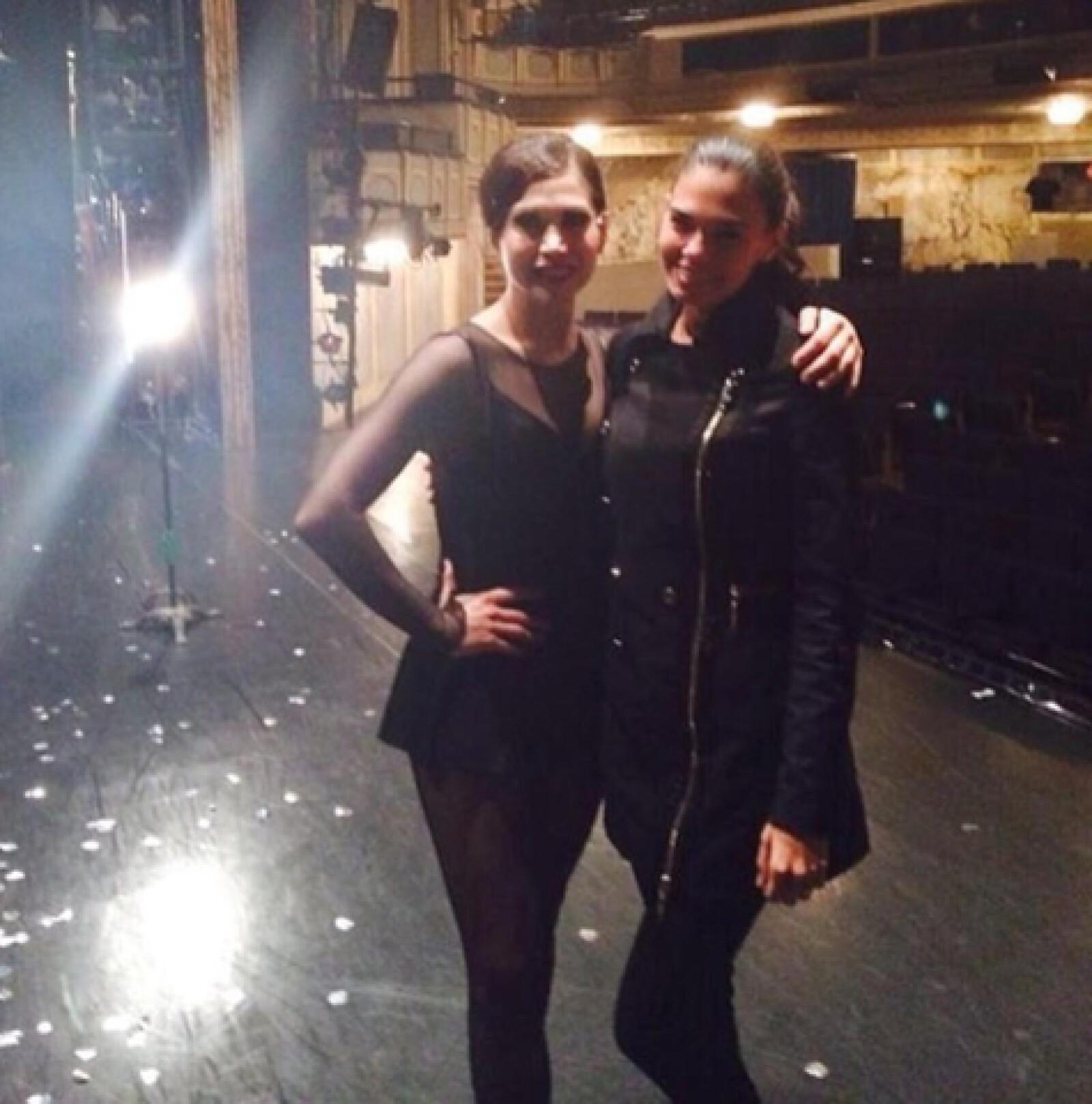 Bianca Marroquín y Livia Brito.