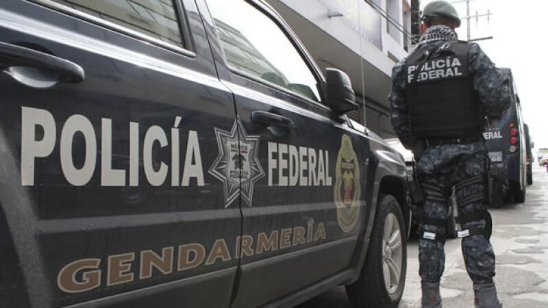 Elementos de la Gendarmería mexicana que llegaron a reforzar la seguridad en la zona sur de Tamaulipas