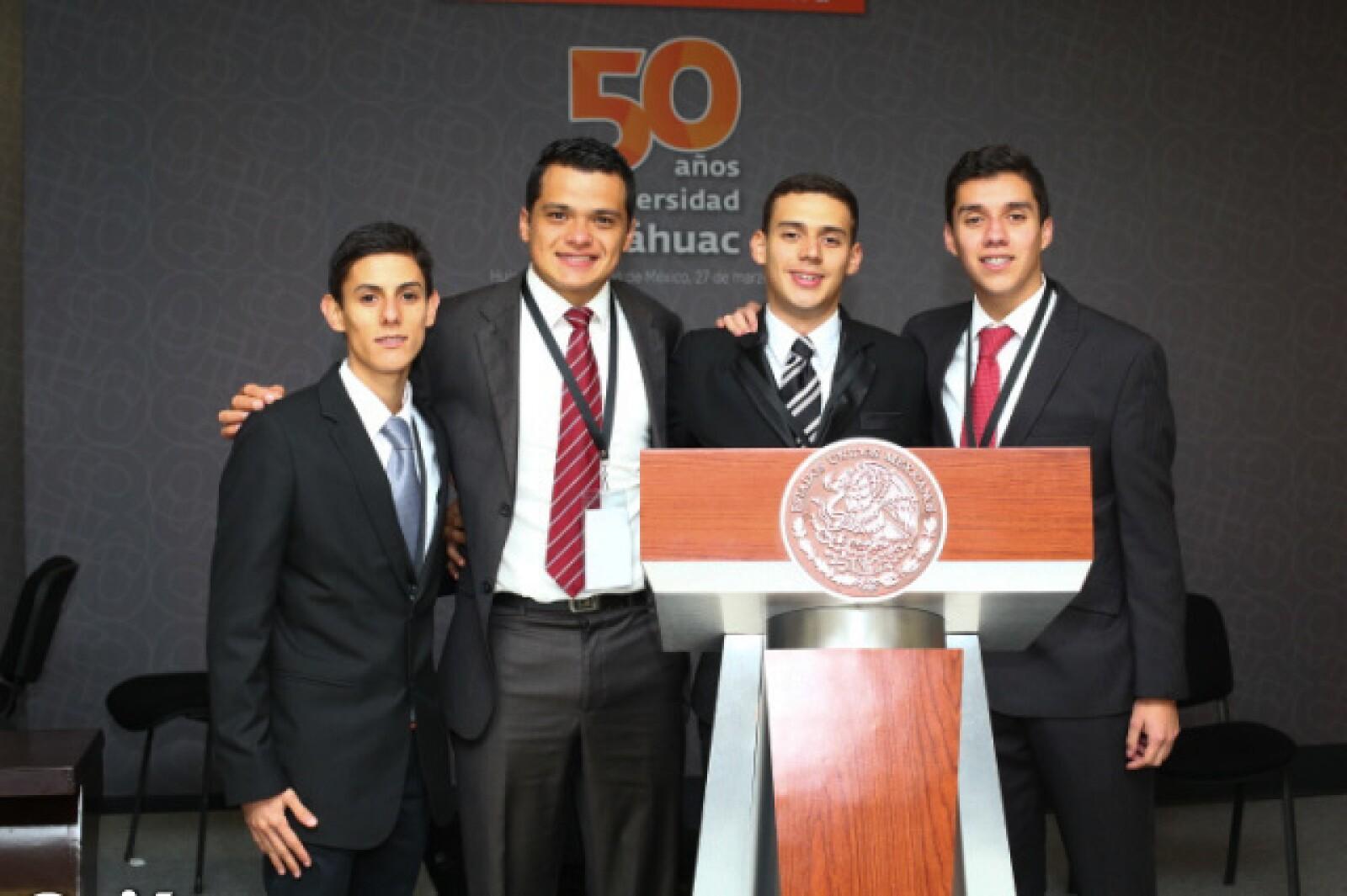Alonso Rosales, Kevin Ramírez, Joel Gómez y Juan Pablo Vázquez.