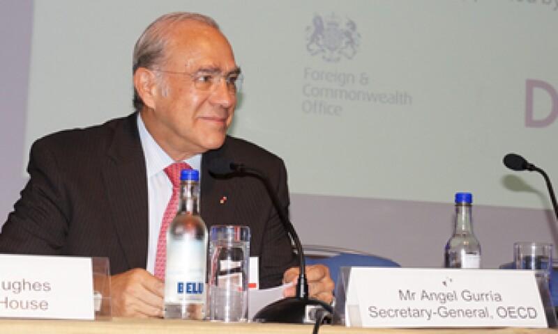 José Ángel Gurría insistió en que la situación económica mundial sigue siendo frágil. (Foto: Notimex)